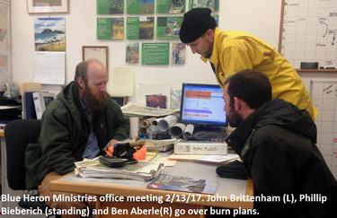 Blue Heron Ministries office meeting 2