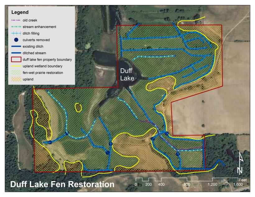 duff lake fen restoration plan